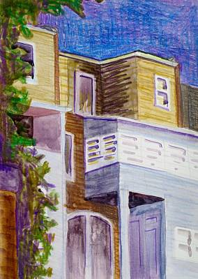 Bethany Lee Painting - Row House Backs by Bethany Lee