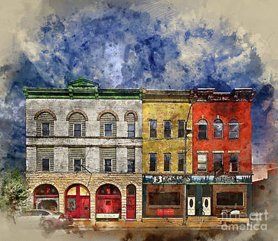 Photograph - Row Houses Baltimore by Jack Torcello