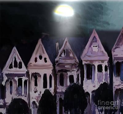 Painting - Row Houses by Belinda Threeths