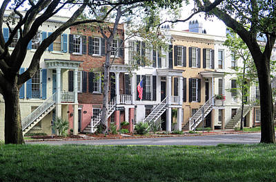 Photograph - Row Houses In Savannah by Dave Mills