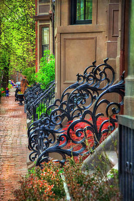 Spring Scenes Photograph - Row Houses - South End Boston by Joann Vitali