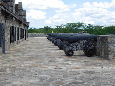 Photograph - Row Of Cannons by Catherine Gagne