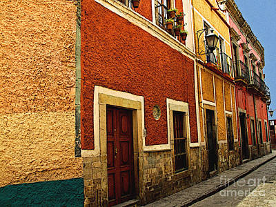 Row Of Casas Guanajuato Art Print by Mexicolors Art Photography