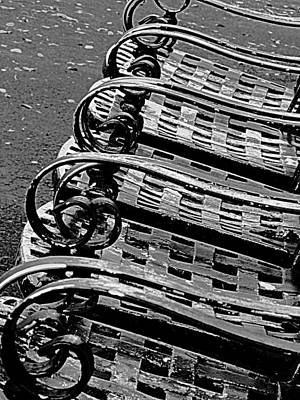Photograph - Row Of Chairs by Ranjini Kandasamy