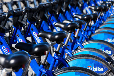 Photograph - Row Of Citibikes by SR Green