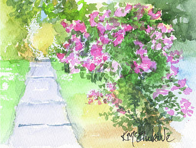Painting - Row Of Crepe Myrtle By Kmcelwaine by Kathleen McElwaine