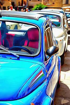 Photograph - Row Of Fiat 500 Classics by Dorothy Berry-Lound