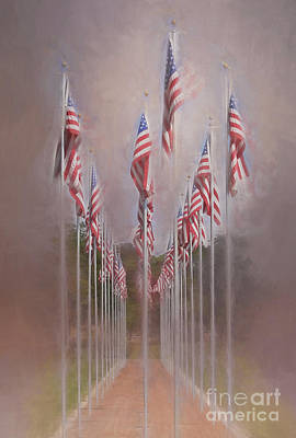 Photograph - Row Of Flags by Clare VanderVeen