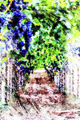 Row Of Grapes Art Print by Andrea Barbieri