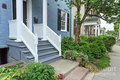 Photograph - Row Of Historic Row Houses by Edward Fielding