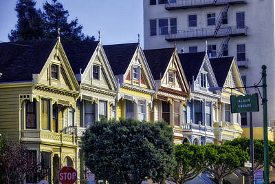 Painted Lady Photograph - Row Of Painted Ladies Sf by Garry Gay