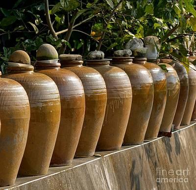 Row Of Pickling Jars Art Print by Yali Shi