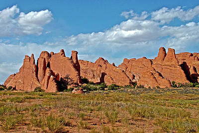 Photograph - Row Of Rock Fins In Arches National Park, Utah  by Ruth Hager