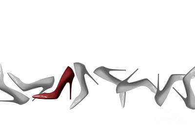 Row Of Shoes Abstract - Natalie Kinnear Photography Art Print