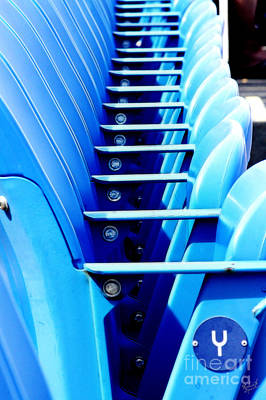 Yankee Stadium Bleachers Photograph - Row Of Stadium Seats by Nishanth Gopinathan