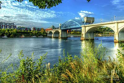 Photograph - Row Row Row John Ross Bridge Chattanooga Tennessee River Art by Reid Callaway
