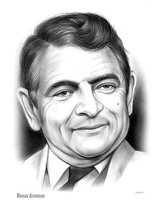 Drawing - Rowan Atkinson by Greg Joens