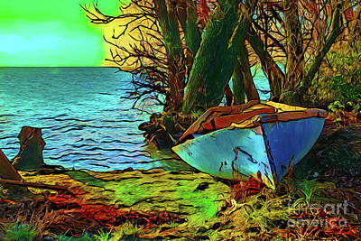 Photograph - Rowboat 17118 by Ray Shrewsberry