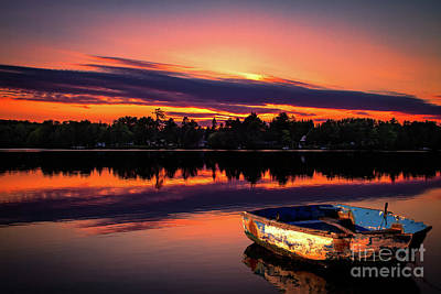 Photograph - Rowboat At Sunset by Jarrod Erbe