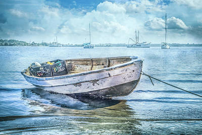 Photograph - Rowboat At The Marina by Debra and Dave Vanderlaan