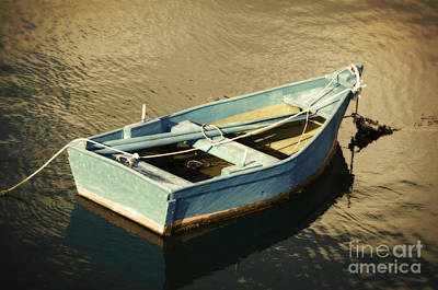 Rowboat At Twilight Art Print by Mary Machare