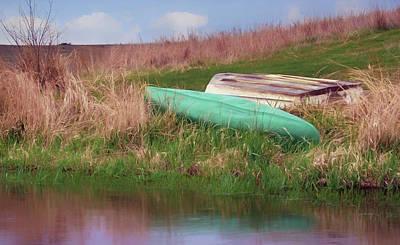 Art Print featuring the photograph Rowboat - Canoe by Nikolyn McDonald