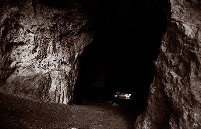 Photograph - Rowboat In A Grotto Duochrome by Wayne King