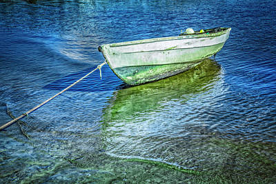 Photograph - Rowboat In Blues by Debra and Dave Vanderlaan