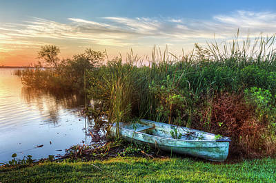 Photograph - Rowboat In The Marsh by Debra and Dave Vanderlaan