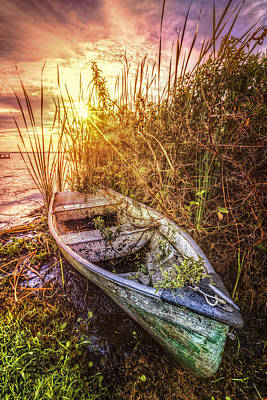 Photograph - Rowboat In The Sun by Debra and Dave Vanderlaan