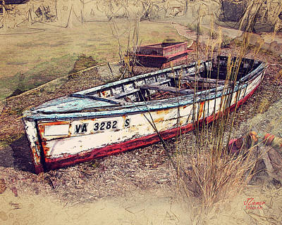 Photograph - Rowboat Modified by Jim Ziemer
