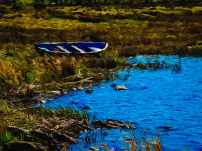 Digital Art - Rowboat On An Irish Lake by James Truett