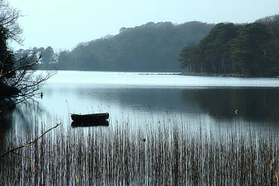 Rowboat On Muckross Lake Art Print