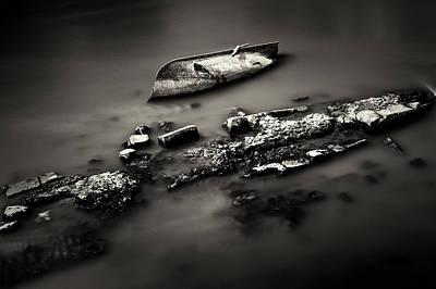 Photograph - Rowboat Turned Turtle by Fabrizio Troiani
