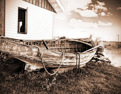 Photograph - Rowboat Weathered By Time by Janice Adomeit