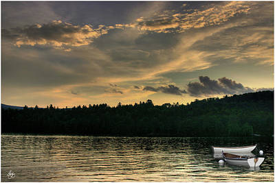 Photograph - Rowboats At Dusk Newfound Lake by Wayne King