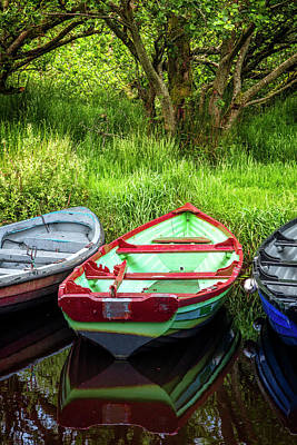 Photograph - Rowboats At The Harbor by Debra and Dave Vanderlaan