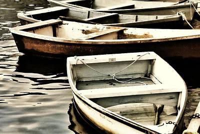 Rowboat Digital Art - Rowboats In Maine by Tony Grider