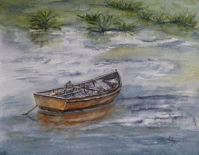 Painting - Rowboats Swamp Lake by Kelly Mills