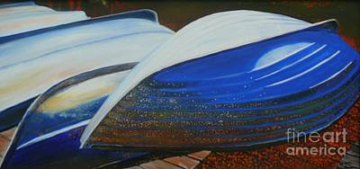 Wa Painting - Rowboats by Terri Thompson