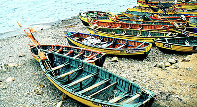 Photograph - Rowboats Waiting To Be Launched - Katchikan Alaska by Merton Allen