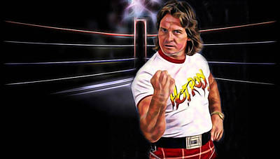 Rowdy Roddy Piper Wrestling Collection Art Print