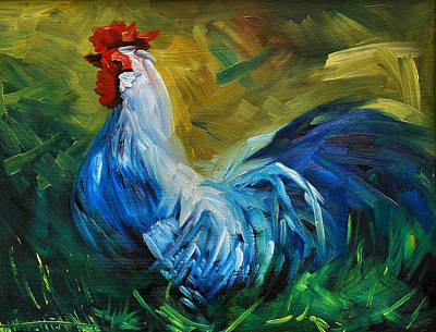Rowdy Rooster Original by Diane Whitehead