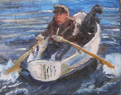Painting - Rower And Rover by Michael Helfen
