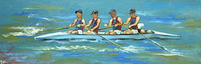 Painting - Rowers #1 by Rosilyn Young