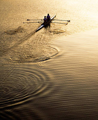 Photograph - Rowers At Sunset by Marilyn Hunt