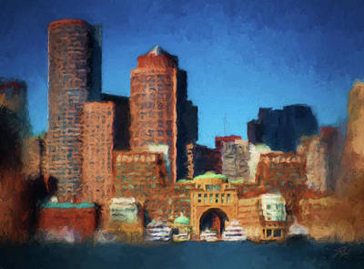 Painting - Rowes Wharf Boston by Thomas Logan