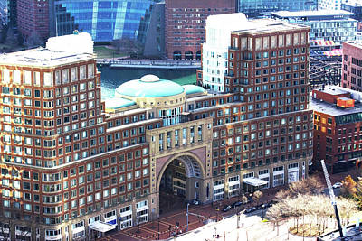 Photograph - Rowes Wharf Building by Ruth H Curtis