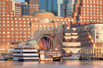 Windjammer Photograph - Rowes Wharf by Susan Cole Kelly