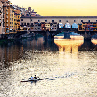 Photograph - Rowing At Sunset by Alfio Finocchiaro